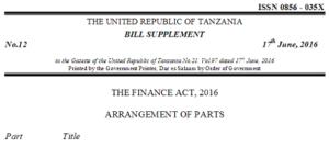 Finance Bill, 2016
